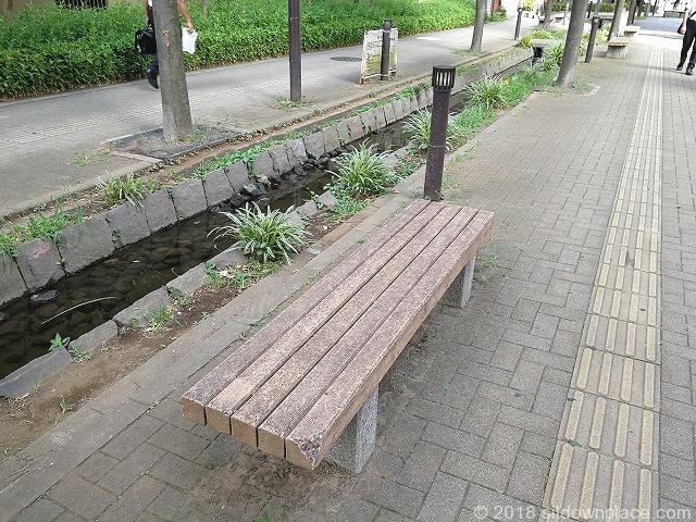 新座ふるさと小道のベンチ詳細