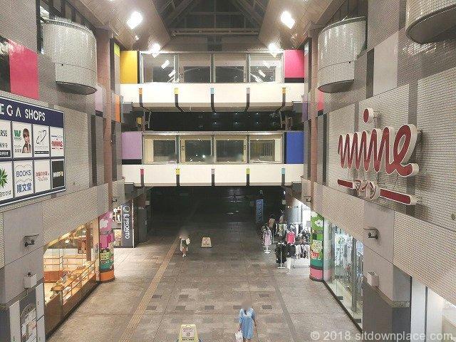 西国分寺駅レガ(LEGA)2F・3F連絡通路反対側にもある座れる休憩場所
