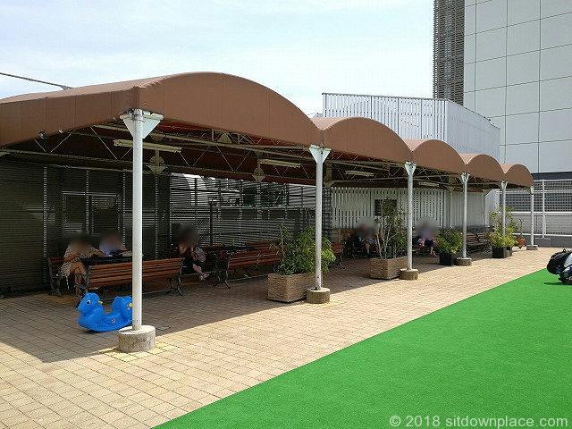 上野松坂屋屋上広場全体