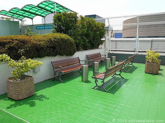 上野松坂屋屋上広場の喫煙所