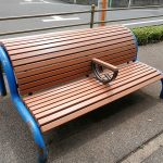 【三軒茶屋駅】世田谷郵便局裏 蛇崩川緑道の休憩場所