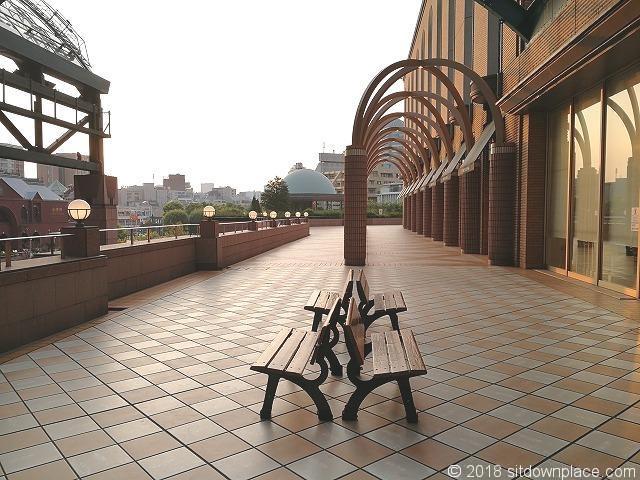 恵比寿三越2Fデッキガーデンプレイス出入口側の景観