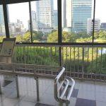 【浜松町駅】歩行者デッキの休憩場所