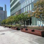 【浜松町駅】汐留ビルディング 公開空地の休憩場所