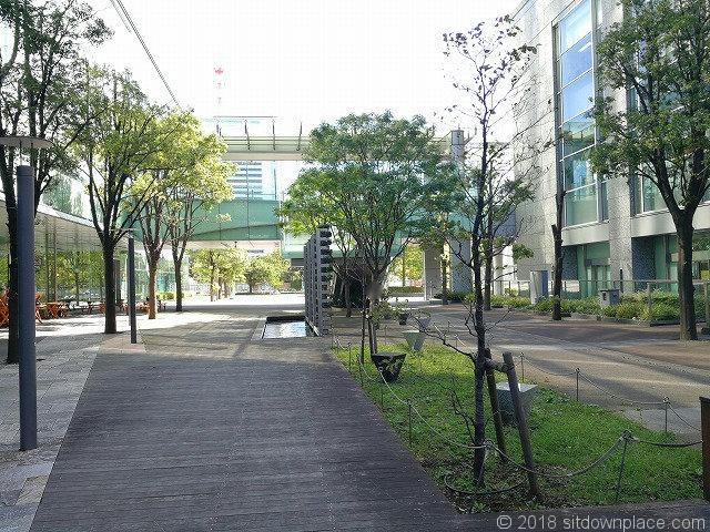 汐留ビルディングから旧芝離宮恩賜庭園方面の景観