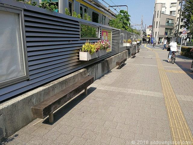 三鷹駅南口駅前ロータリー付近の座れる休憩場所