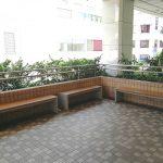 【大宮駅】DOM 2F デッキ入口付近の休憩場所