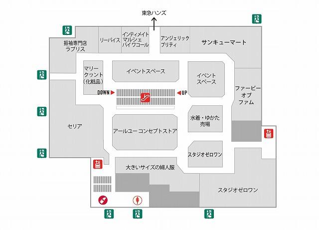 大宮マルイ4F店内マップ