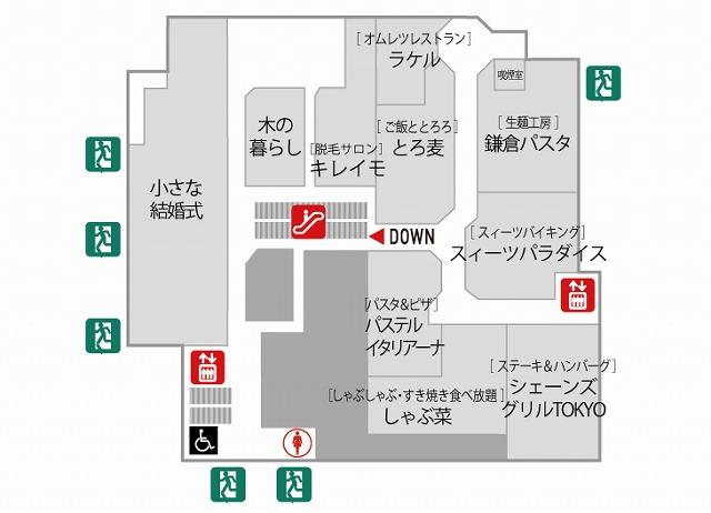 大宮マルイ7F店内マップ