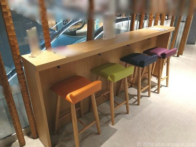 大宮マルイ5Fのカウンターテーブル