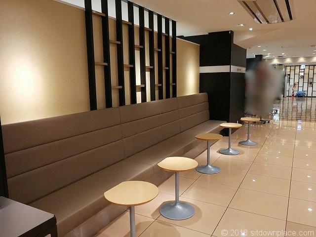 渋谷東急本店B1Fの休憩所