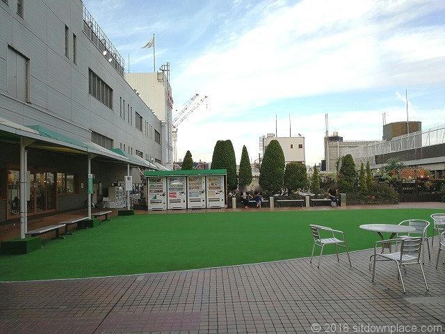 渋谷東急本店屋上庭園の景観