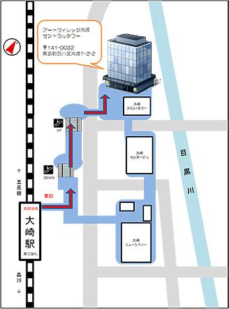 アートヴィレッジ大崎セントラルタワーのアクセスマップ