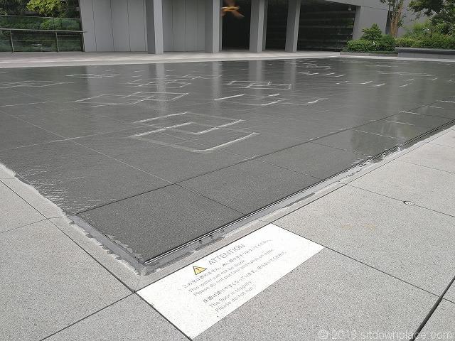 銀座シックス屋上庭園の水場詳細