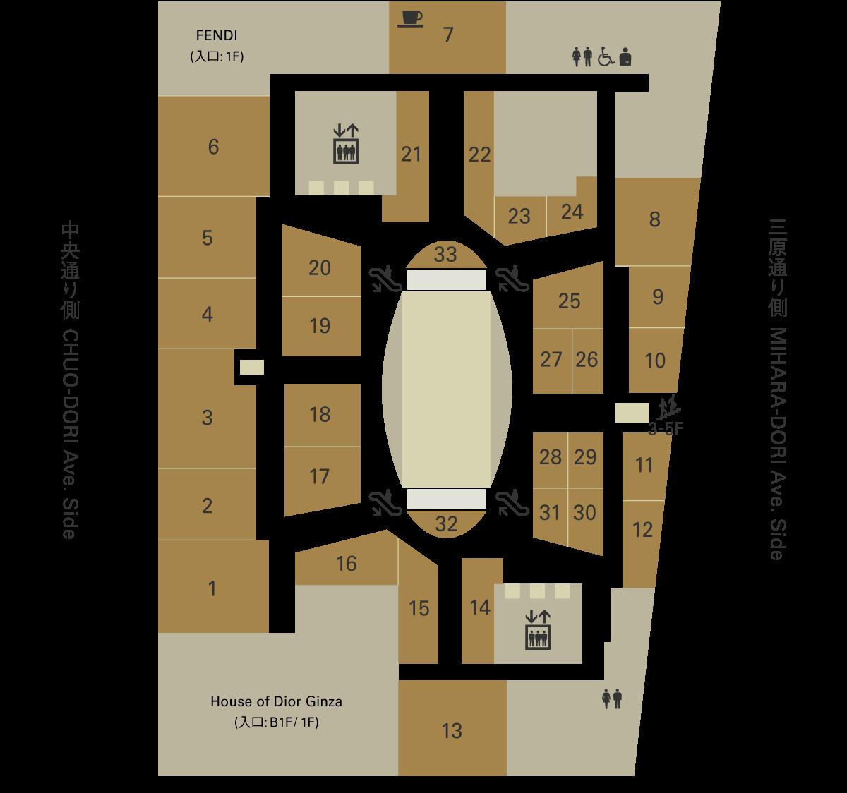 銀座シックス3Fフロアマップ