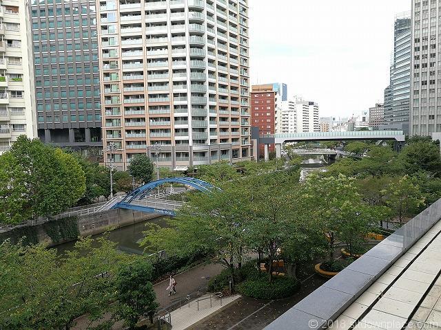 大崎センタービル2fデッキから見える景観