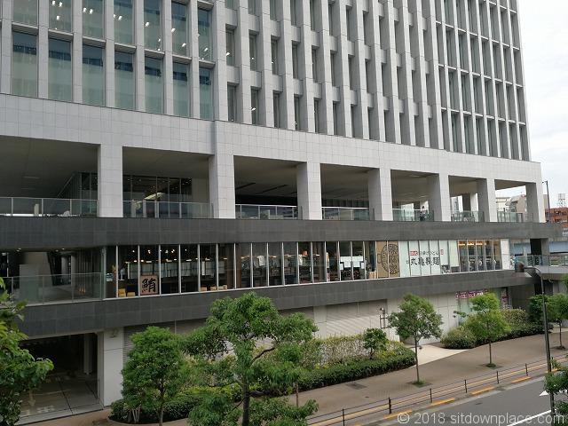 大崎センタービル2fの休憩所外観