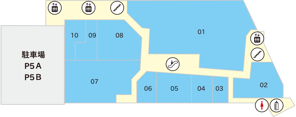 横須賀モアーズシティ公式5Fフロアマップ