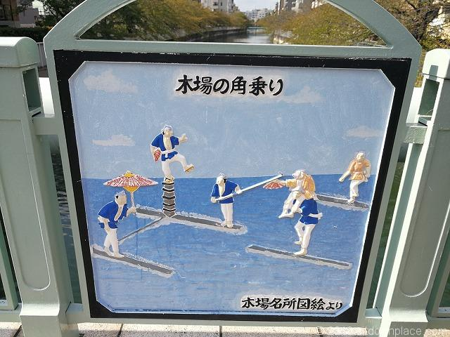 木更木橋の木場の角乗りの絵