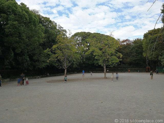 清澄庭園児童公園の広場