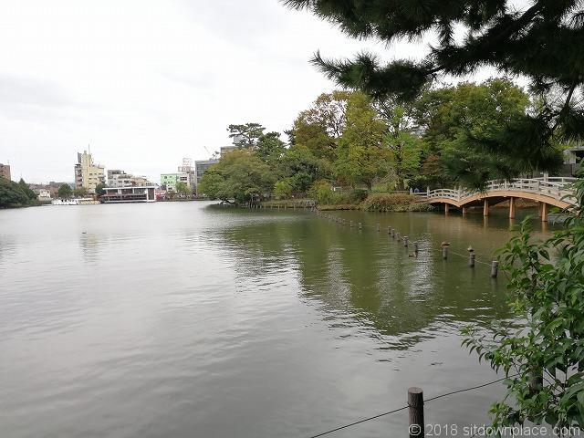 洗足池の景観