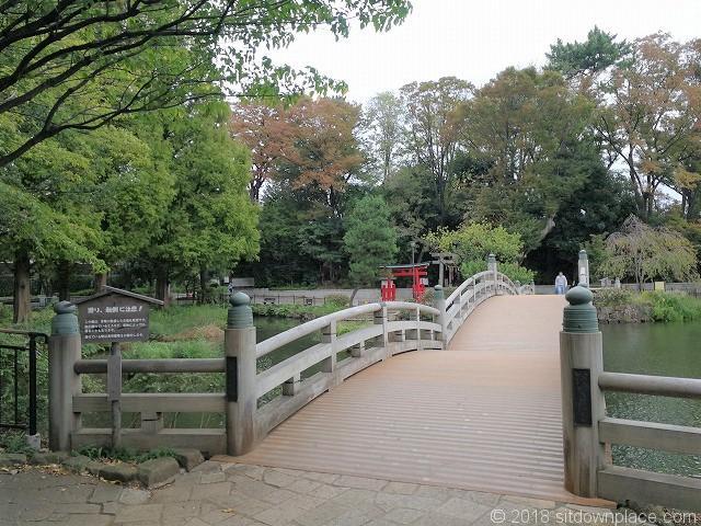 洗足池の池月橋