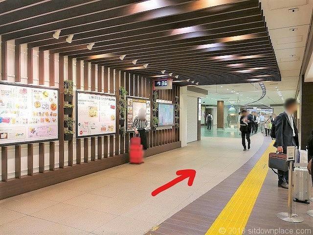 東京駅構内の銀の鈴への行き方その2