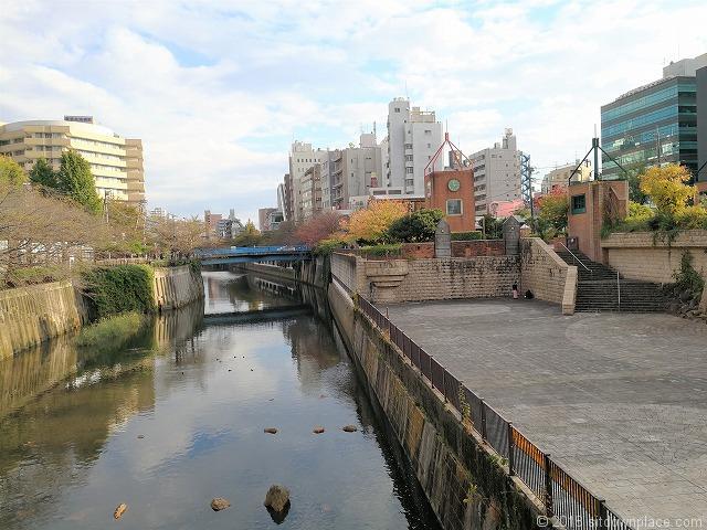 目黒川船入場付近の景観