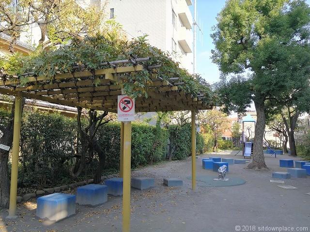 矢口南児童公園のパーゴラ
