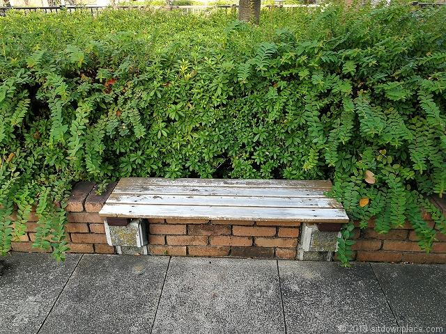 目黒川船入場の休憩所