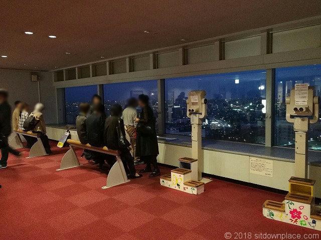 北とぴあ17F展望ロビー王子駅側
