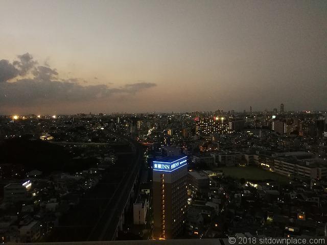 北とぴあ17F展望ロビーさいたま新都心側の夜景