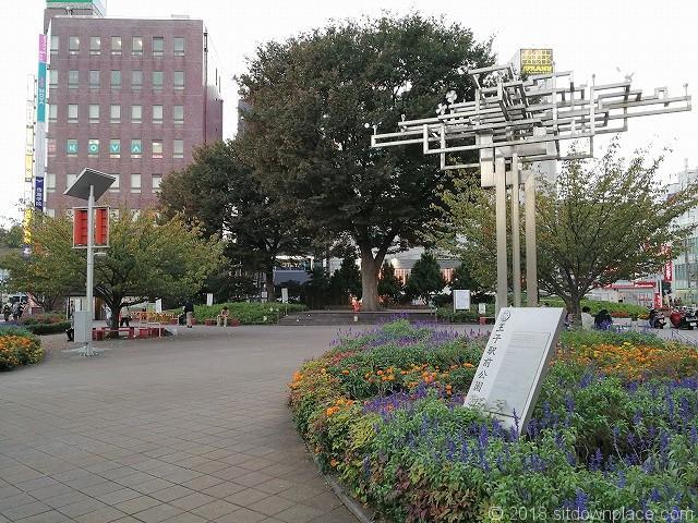 王子駅前公園入口