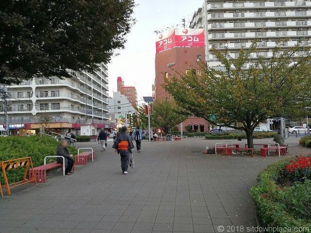王子駅前公園の景観