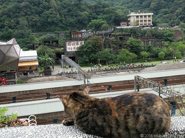 猫村から見た猴硐駅
