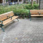 【東門駅】永康公園のベンチ