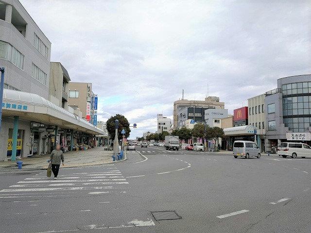 銚子駅前ロータリー広場からの景観