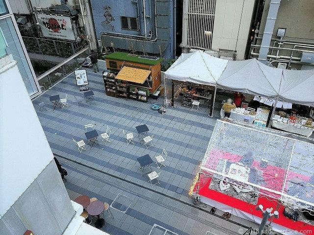 渋谷ストリーム1F金王橋広場俯瞰図