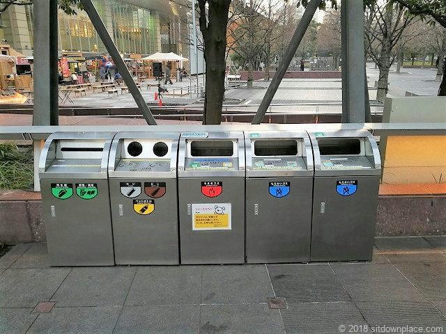 汐の公園品川セントラルガーデンのゴミ箱