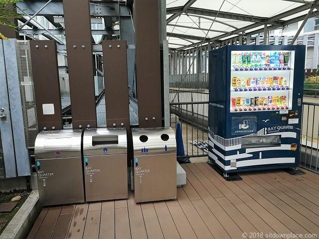 ベイクォーター6Fベイガーデンの自動販売機