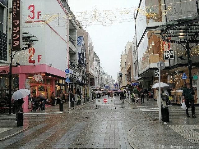 元町ショッピングストリートの景観