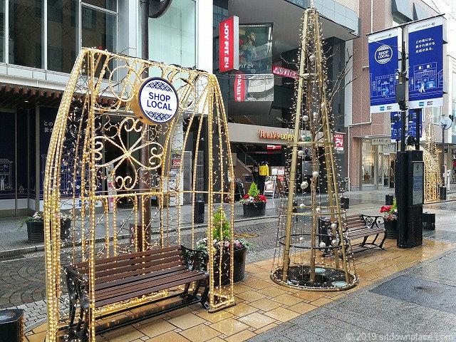 元町ショッピングストリートのオシャレな休憩所