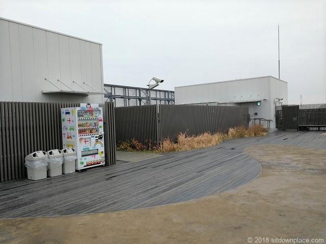 シァル鶴見屋上の清風苑の自動販売機
