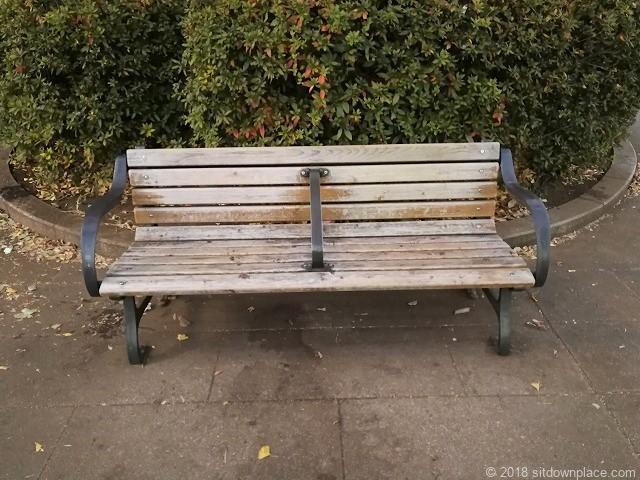 上野恩賜公園のベンチ