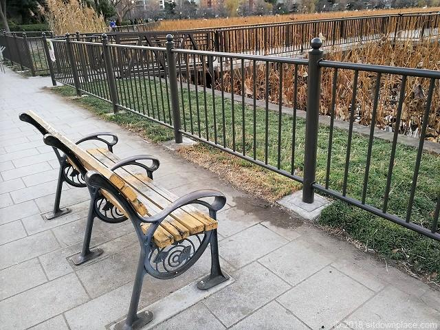 不忍池の池周辺のベンチ