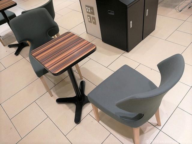 ペリエ千葉 エキナカ3Fのテーブル席