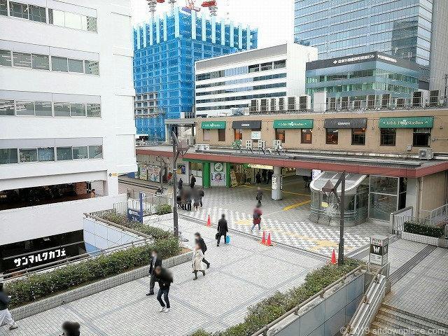 田町駅西口ペデストリアンデッキの景観
