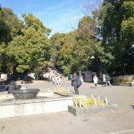 【上野駅】上野恩賜公園 カエルの噴水付近の休憩場所