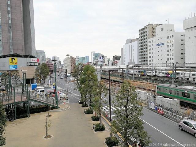 高島屋タイムズスクエア横のデッキからの景観