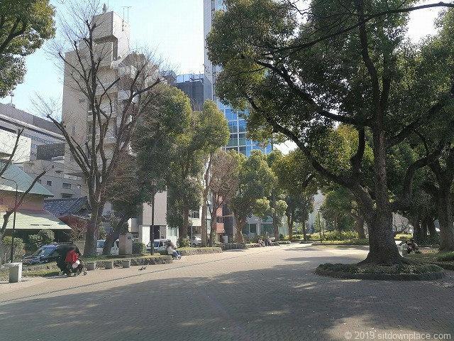 芝公園増上寺前の休憩場所